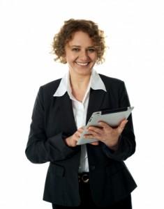 affärskvinna som driver eget