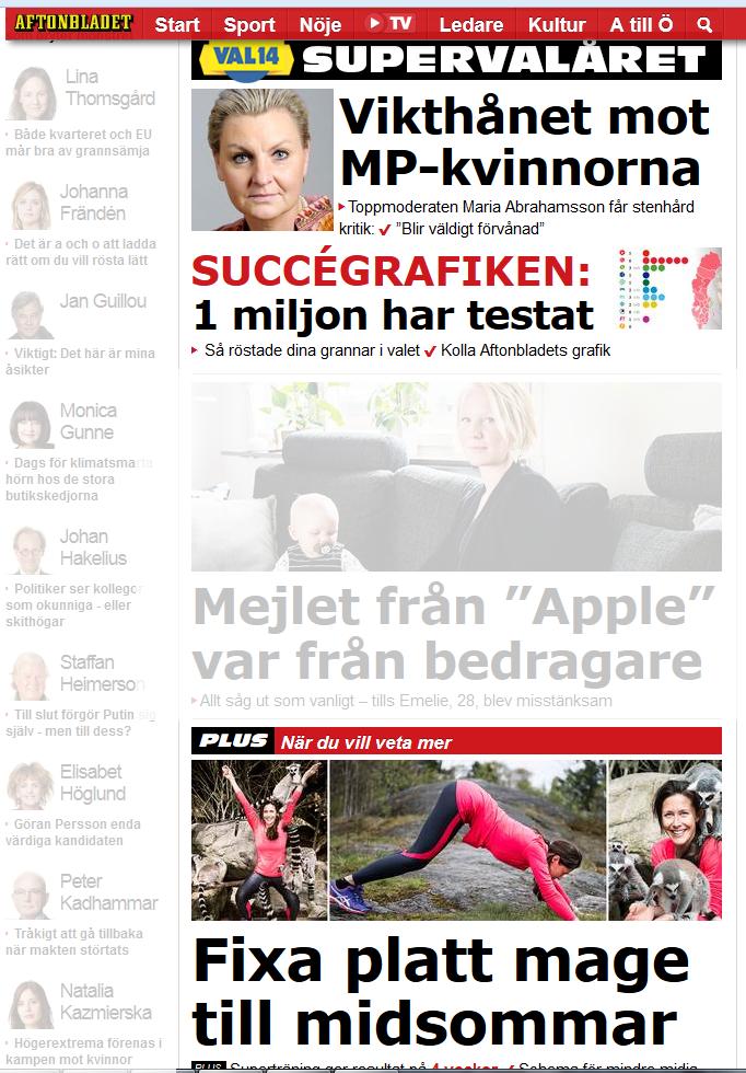 Dubbelmoralen i media finns ofta hos Aftonbladet